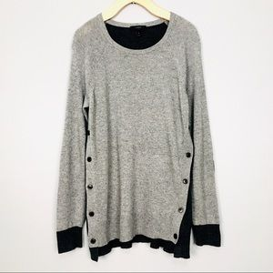 J. Crew Wool and Rabbit Blend Side Button Sweater